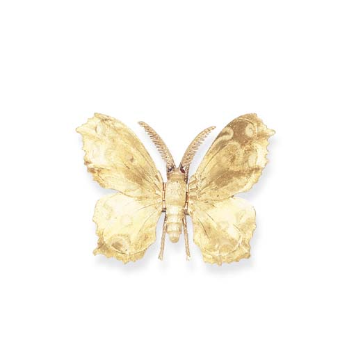 A BICOLORED GOLD BROOCH, BY MA