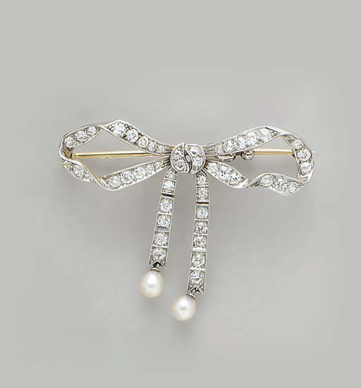 A BELLE EPOQUE DIAMOND, PEARL,