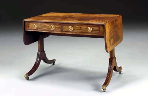 A REGENCY MAHOGANY AND SATINWO