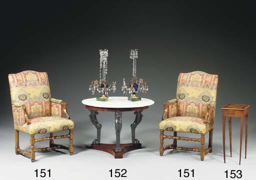 A FRENCH KINGWOOD TABLE A ECRI
