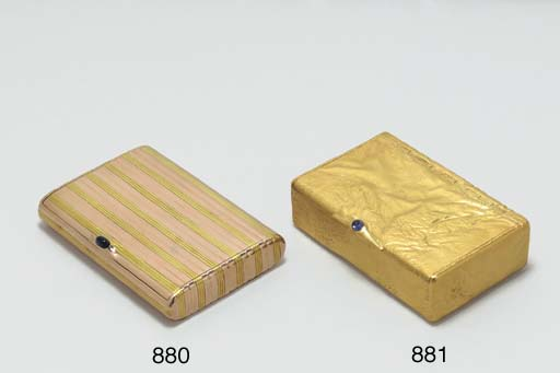 A JEWELED GOLD SAMORODOK CIGAR