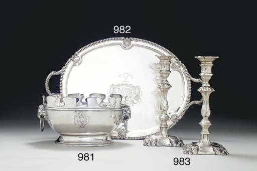A PAIR OF EDWARD VII SILVER CA