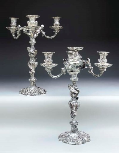 A PAIR OF GEORGE III SILVER FO