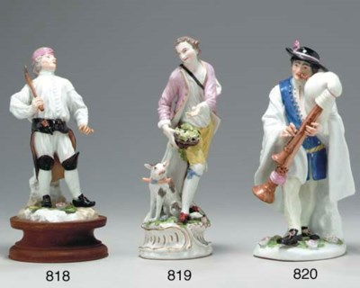 A MEISSEN FIGURE OF A MINER (D