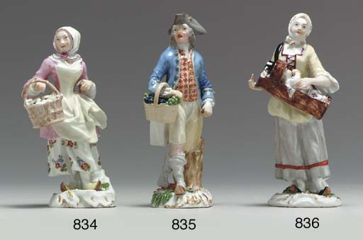 A MEISSEN FIGURE GROUP OF A BE