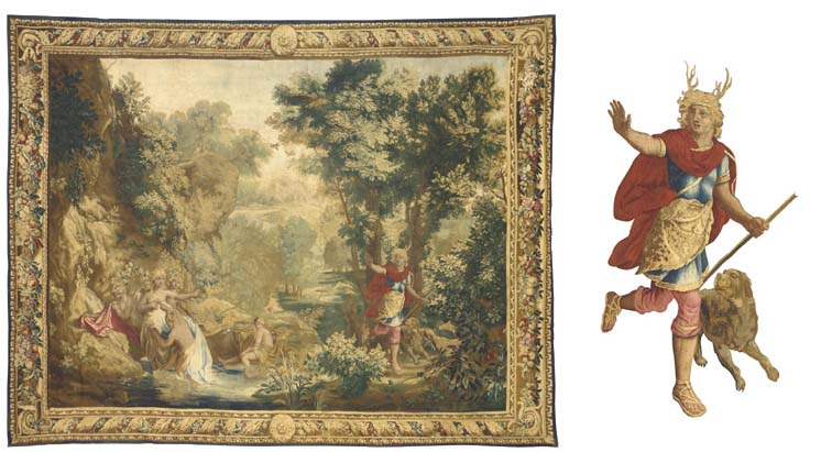 A LOUIS XIV GOBELINS MYTHOLOGI