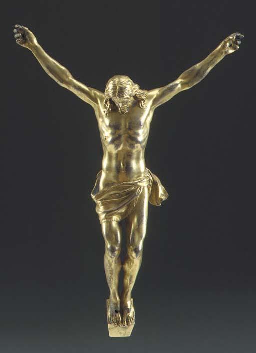 A GILT-BRONZE FIGURE OF CHRIST