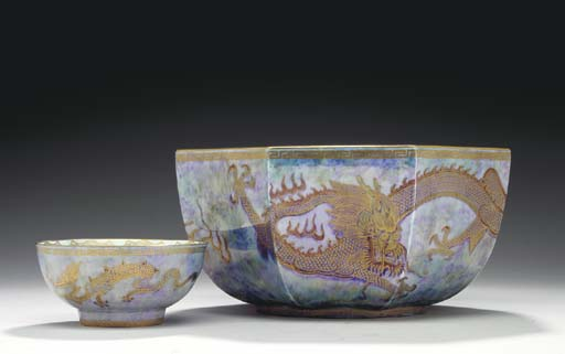 A WEDGWOOD 'DRAGON' MIXED-BLUE