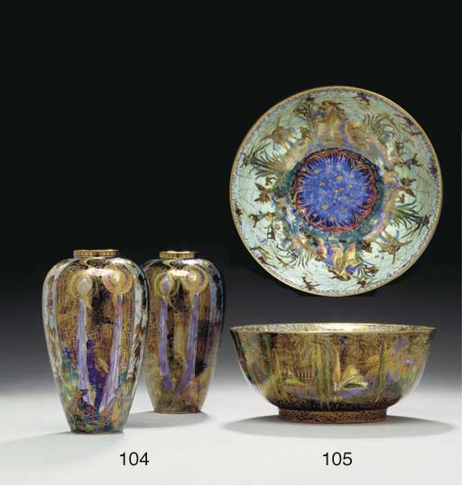 TWO WEDGWOOD FAIRYLAND LUSTRE