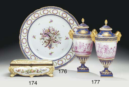 A SEVRES STYLE CHARGER