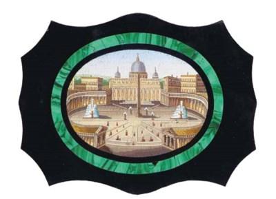 A Roman micromosaic plaque dep