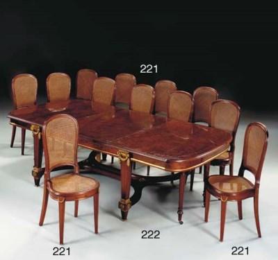 A set of twelve French ormolu-