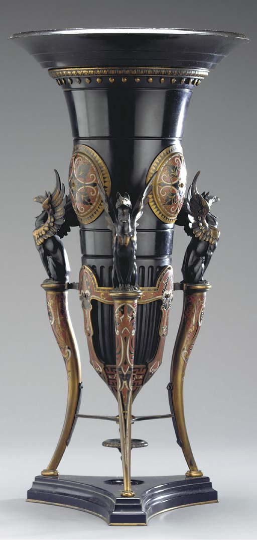 A French bronze and cloisonne