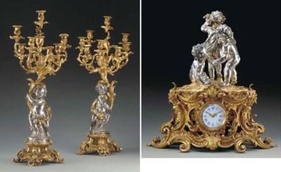 A Napoleon III silvered and gi