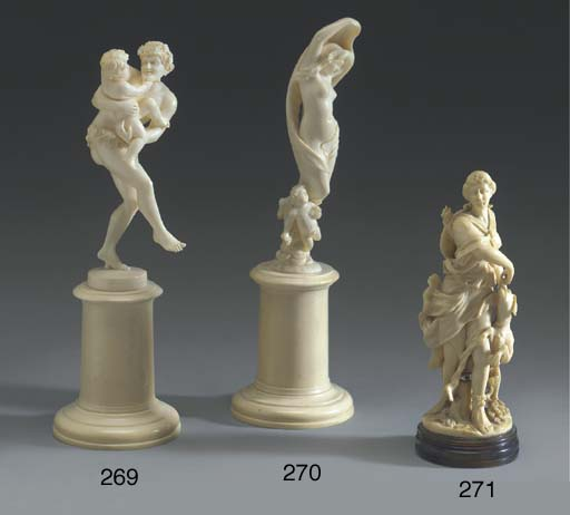A French carved ivory figure o