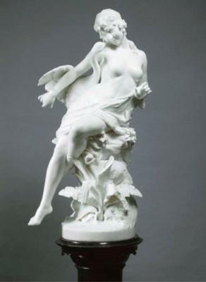 An Italian white marble group