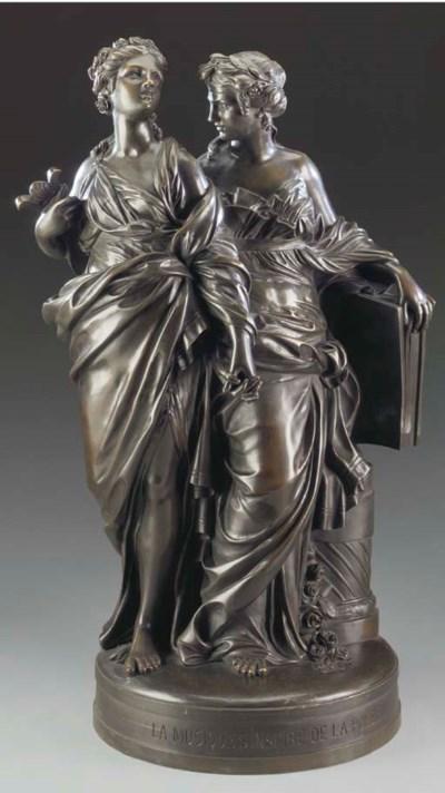 A French bronze allegorical gr