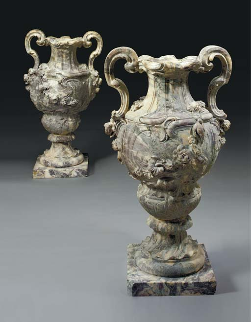 A pair of large Rococo style b