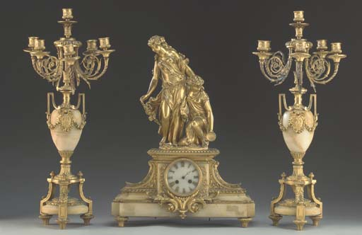 A Louis XVI style ormolu and a