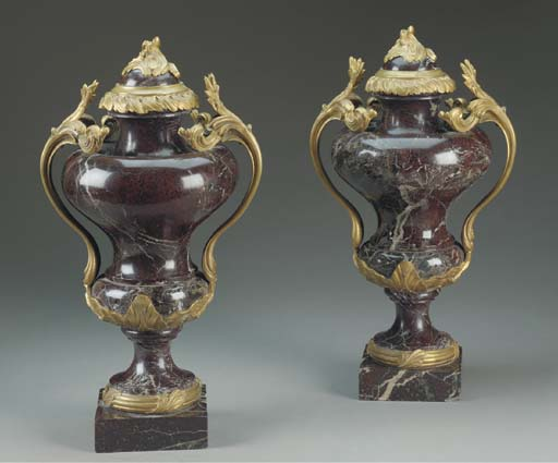 A pair of Louis XV style ormol