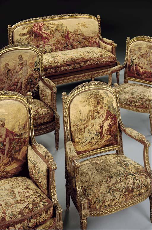 A fine Napoleon III giltwood a