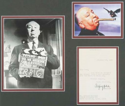 ALFRED HITCHCOCK SIGNED LETTER
