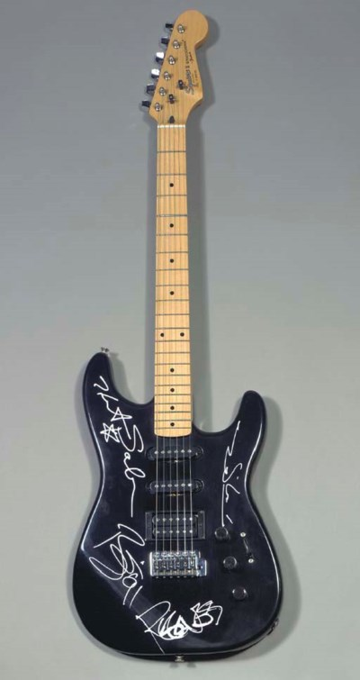 DAVID BOWIE SIGNED GUITAR