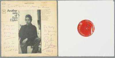 BOB DYLAN SIGNATURE AND HANDWR