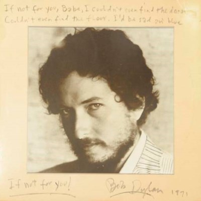 BOB DYLAN LYRICS ON SIGNED ALB