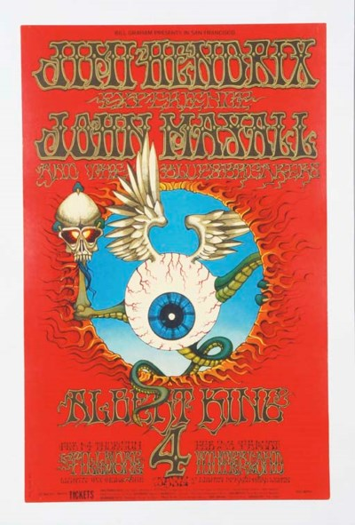 JIMI HENDRIX CONCERT POSTER BY