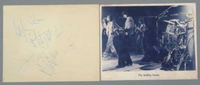 ROLLING STONES AUTOGRAPHED PHO