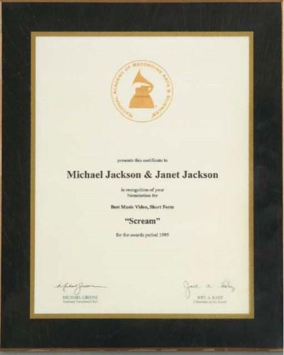MICHAEL AND JANET JACKSON GRAM