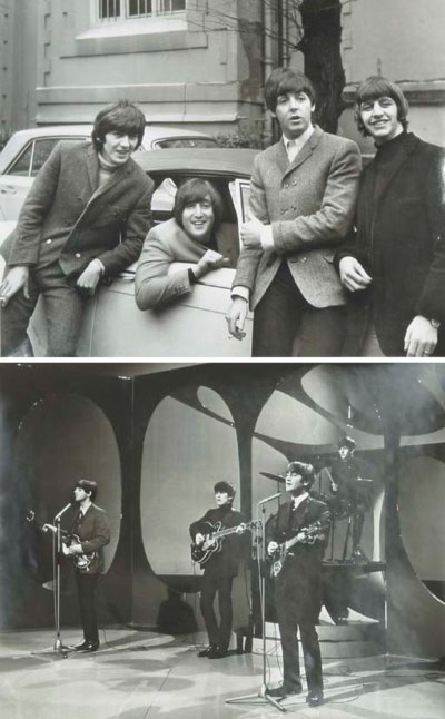 TWO LARGE BEATLES PHOTOGRAPHS