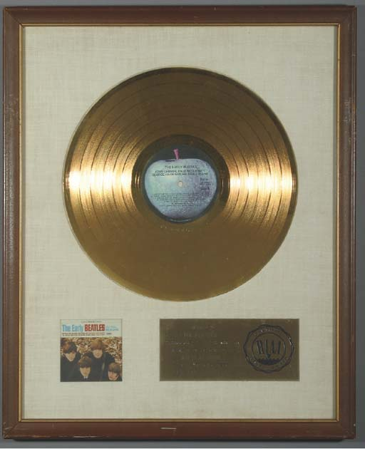 THE BEATLES THE EARLY BEATLES GOLD RECORD