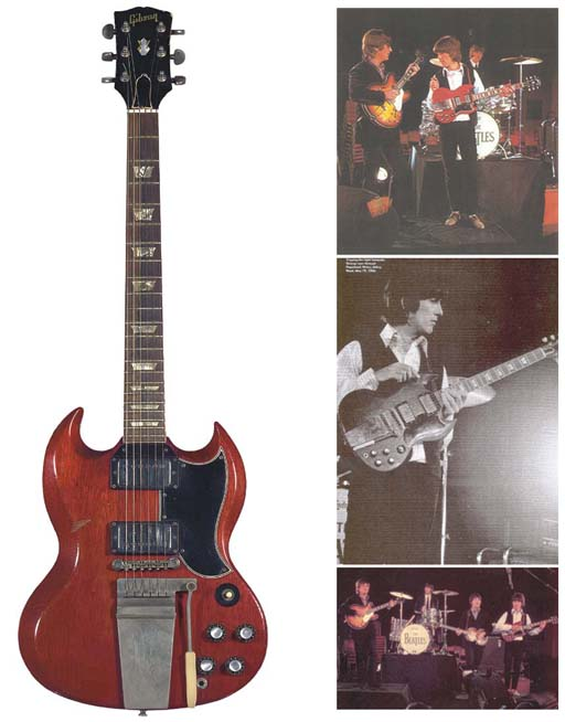 GEORGE HARRISON BEATLES OWNED AND PLAYED GUITAR