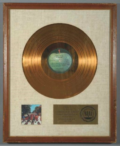 THE BEATLES ABBEY ROAD GOLD RE
