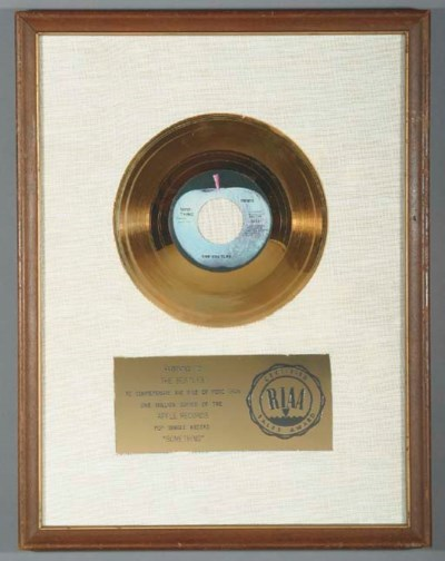 THE BEATLES SOMETHING GOLD REC