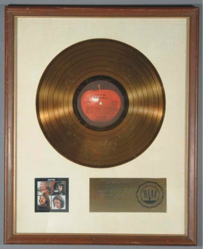 BEATLES LET IT BE GOLD RECORD