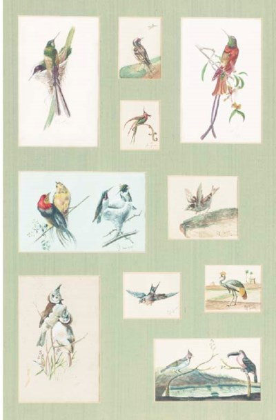 A GROUP OF TEN WATERCOLORS OF