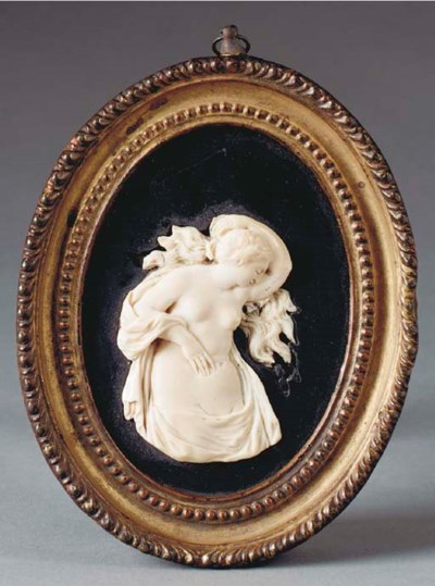 A FRENCH IVORY RELIEF OF VENUS