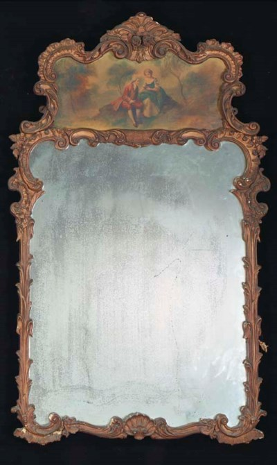 A LOUIS XV STYLE GILTWOOD TRUM