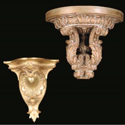 TWO PAIRS OF FRENCH CARVED GIL