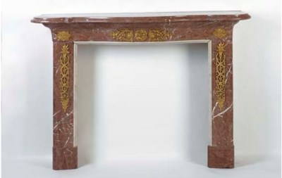 A LOUIS XV STYLE ROUGE MARBLE
