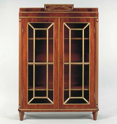 A RUSSIAN MAHOGANY AND BRASS-M