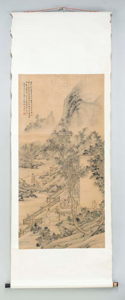 FOUR CHINESE SCROLLS,