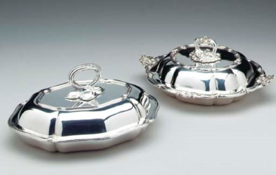 TWO PAIRS OF VICTORIAN SILVER