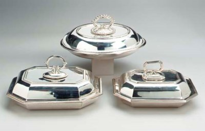 FIVE VARIOUS SILVER PLATED ENT