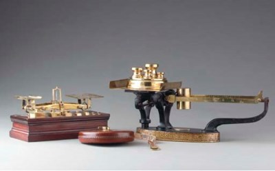 A GROUP OF VICTORIAN WEIGHTS A