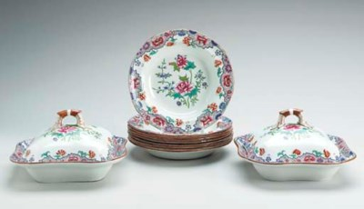 A SPODE PEARLWARE CHINOISERIE