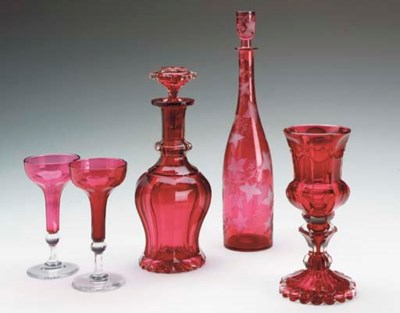 A GROUP OF VICTORIAN RUBY AND